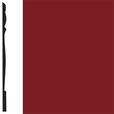 Flexco Base Sculpture Wall Base Reflection Sierra Red