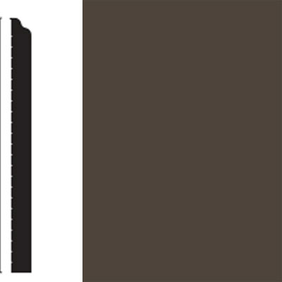 Flexco Base Sculpture Wall Base Whimsical Black Brown