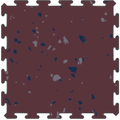 Flexco Tuflex Force Interlocking Edge Plum Pudding w Delft Pansy Medium Gray