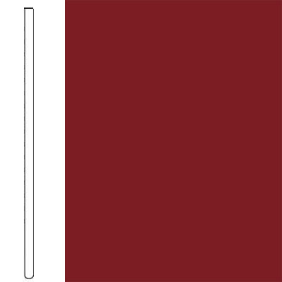 Flexco Wallflowers Wall Base 4 Straight Sierra Red