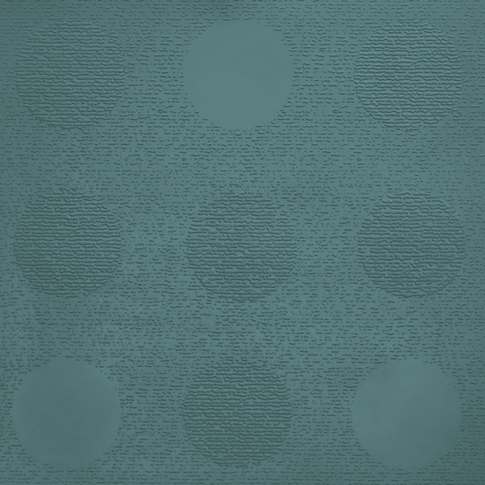 Johnsonite Circulinity Tic-Tac-Toe Texture 24 x 24 Peacock
