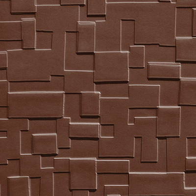 Johnsonite Solid Colors Cubis Surface 24 x 24 .125 Sienna