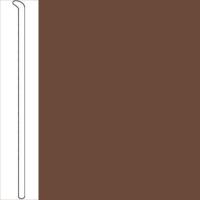 Johnsonite Traditional Dura Cove Wallbase 4 Toeless Milk Chocolate