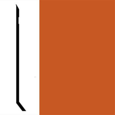 Johnsonite Perceptions Designer Recess With Toe Tangerine