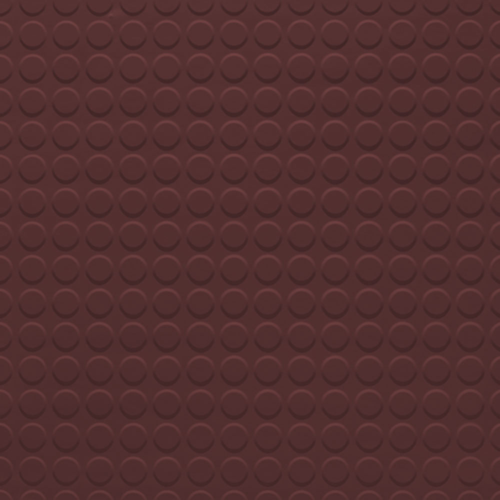 Johnsonite Solid Colors Raised Round Surface 24 x 24 .155 Burgundy