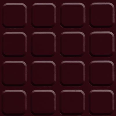 Johnsonite Solid Colors Raised Square Surface 24 x 24 .155 Cabernet