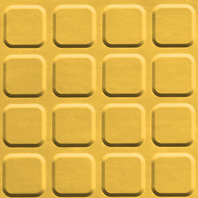 Johnsonite Solid Colors Raised Square Surface 24 x 24 .155 Lemon