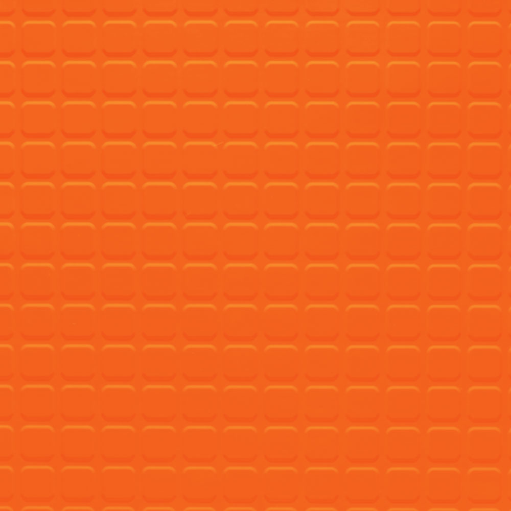Johnsonite Solid Colors Raised Square Surface 24 x 24 .155 Tangerine Tango