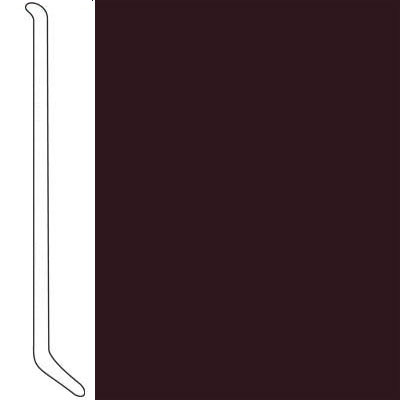 Johnsonite Safe-T-First Luminescent Wallbase 4 Burgundy