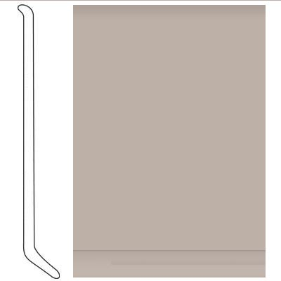 Johnsonite 6 Inch Baseworks ThermoSet Rubber Wall Base with Toe Beige