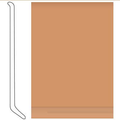 Johnsonite 6 Inch Baseworks ThermoSet Rubber Wall Base with Toe Butterscotch