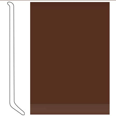 Johnsonite 6 Inch Baseworks ThermoSet Rubber Wall Base with Toe Sienna
