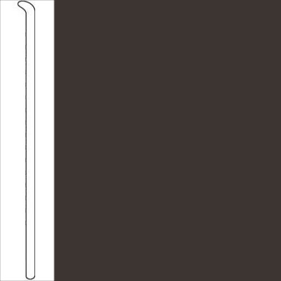 Johnsonite 2 1/2 Inch Baseworks ThermoSet Rubber Wall Base Toeless Brown