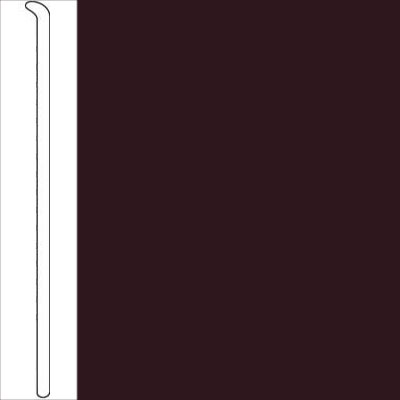 Johnsonite 2 1/2 Inch Baseworks ThermoSet Rubber Wall Base Toeless Burgundy