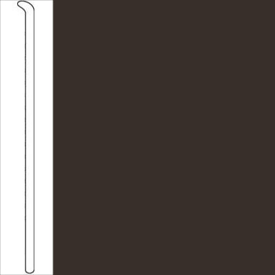 Johnsonite 2 1/2 Inch Baseworks ThermoSet Rubber Wall Base Toeless Burnt Umber