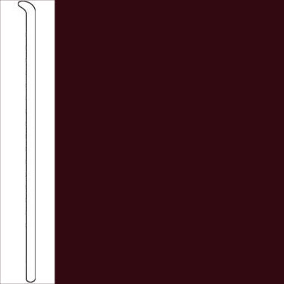 Johnsonite 2 1/2 Inch Baseworks ThermoSet Rubber Wall Base Toeless Cabernet