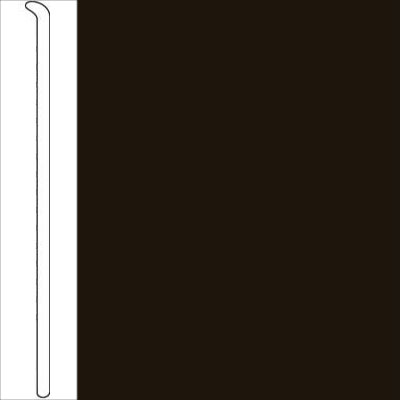 Johnsonite 2 1/2 Inch Baseworks ThermoSet Rubber Wall Base Toeless Dark Brown