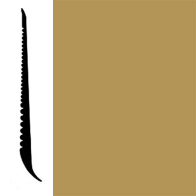 Johnsonite Tightlock Wallbase for Resilient 3 1/8 Gold Digger