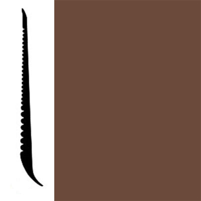 Johnsonite Tightlock Wallbase for Resilient 3 1/8 Milk Chocolate