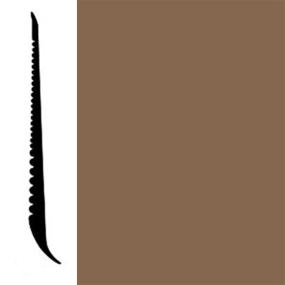 Johnsonite Tightlock Wallbase for Resilient 4 3/8 Rusty Nail