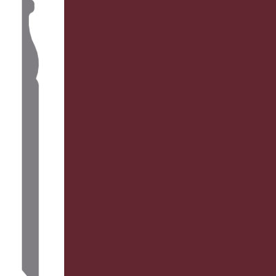 Mannington Wall Base Edge Effects Regal 5 1/4 Wineberry