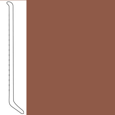 Mannington Wall Base Premium Edge Type TP Coved 4 1/2 Pecan