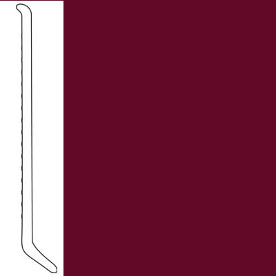 Mannington Wall Base Premium Edge Type TP Coved 4 Wineberry