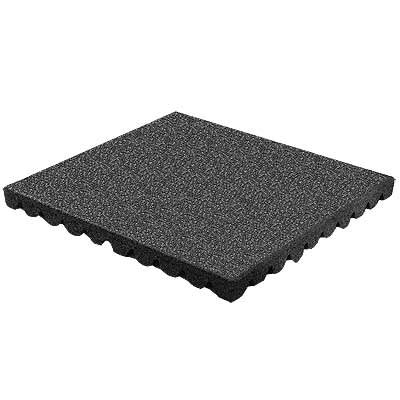 RB Rubber Products Bounce Back - 7-8 Feet Fall Tile Black 6003120100CT