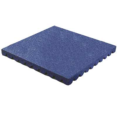 RB Rubber Products Bounce Back - 9-10 Feet Fall Tile Denim Blue 6004000400CT