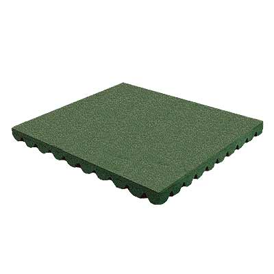 RB Rubber Products Bounce Back - 9-10 Feet Fall Tile Cascade Green 6004000600CT