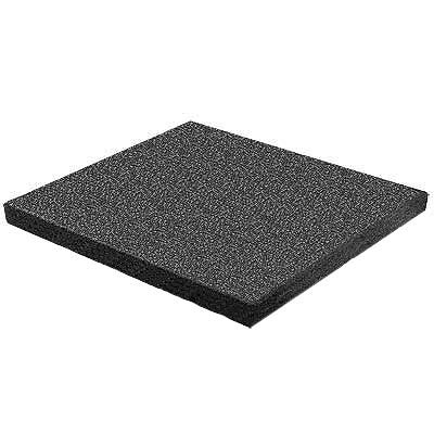 RB Rubber Products Bounce Back - 3 Feet Fall Flat Tile Black 6001340100CT