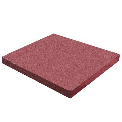 RB Rubber Products Bounce Back - 3 Feet Fall Flat Tile Cayenne Red 6001340300CT