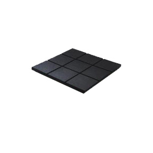 RB Rubber Products Ballistic Tiles Black 63-1120-01-0001