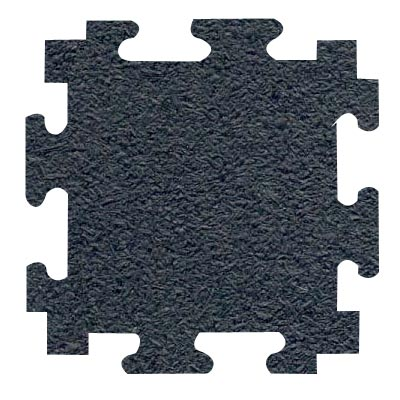 RB Rubber Products Sports Mats 3/4 Megalock Black