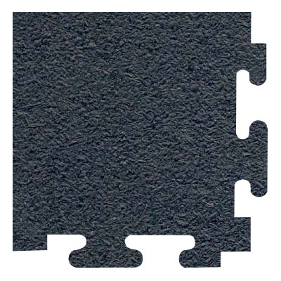 RB Rubber Products Sports Mats Corner 1/2 Megalock Black