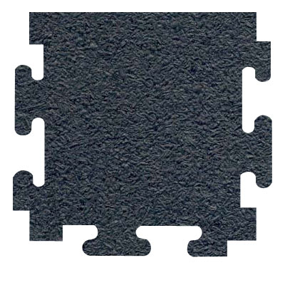 RB Rubber Products Sports Mats Edge 1/2 Megalock Black