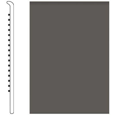 Roppe 700 Series Wall Base 6 (No Toe Base) Burnt Umber 194