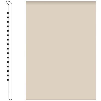 Roppe 700 Series Wall Base 6 (No Toe Base) Ivory 198