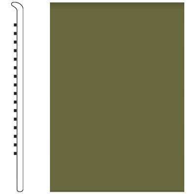 Roppe 700 Series Wall Base 6 (No Toe Base) Olive 634