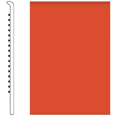 Roppe 700 Series Wall Base 6 (No Toe Base) Tangerine 626