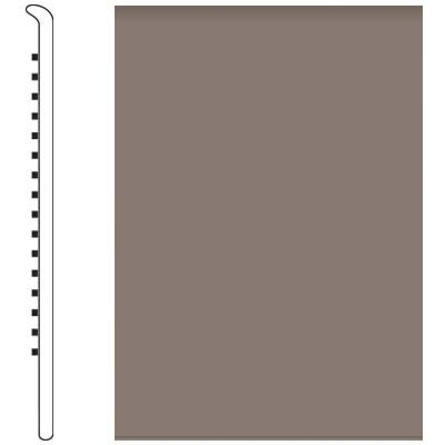 Roppe 700 Series Wall Base 6 (No Toe Base) Taupe 124