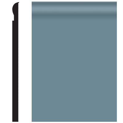 Roppe Contours Wall Base 85 Fashion 4.25 Colonial Blue