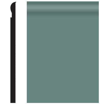 Roppe Contours Wall Base 85 Fashion 4.25 Hunter Green