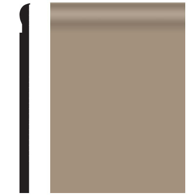 Roppe Contours Wall Base 85 Fashion 4.25 Sandstone