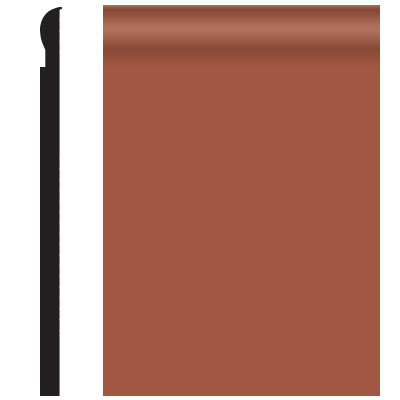 Roppe Contours Wall Base 85 Fashion 4.25 Terracotta
