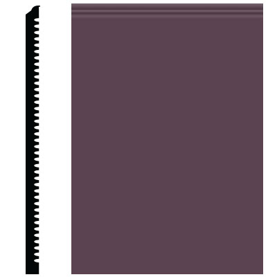 Roppe Contours Wall Base 65 Vertical 3 Burgundy