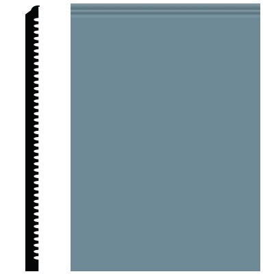 Roppe Contours Wall Base 65 Vertical 3 Colonial Blue