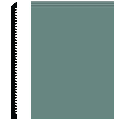 Roppe Contours Wall Base 65 Vertical 3 Hunter Green