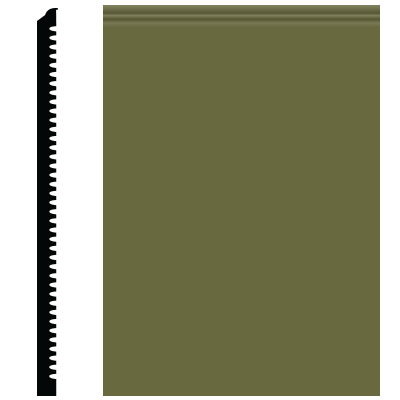 Roppe Contours Wall Base 65 Vertical 3 Olive