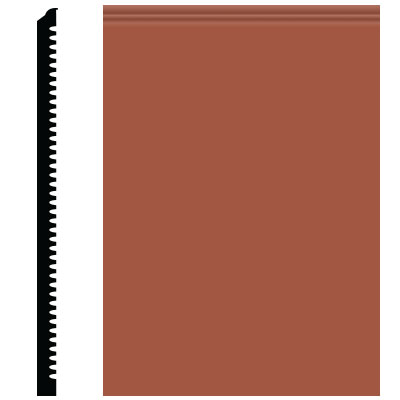 Roppe Contours Wall Base 65 Vertical 3 Terracotta